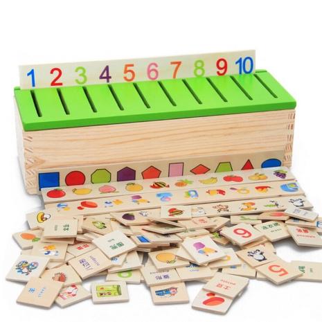 Joc din lemn asociere si sortare Montessori