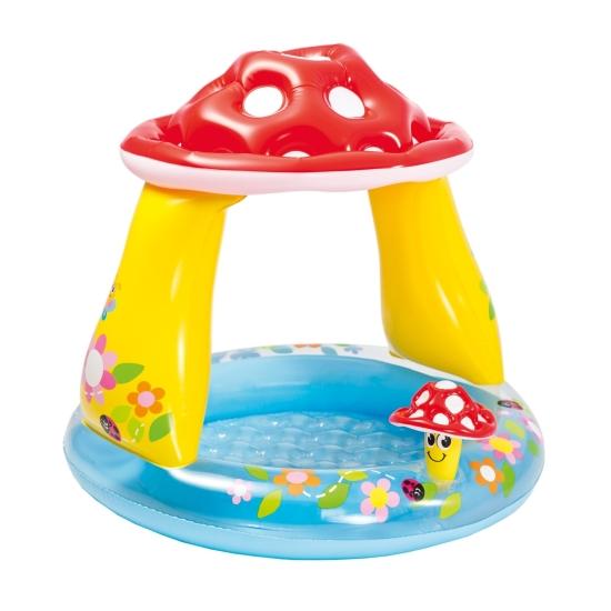 Piscina de apa cu acoperis pentru copii Ciuperca Intex