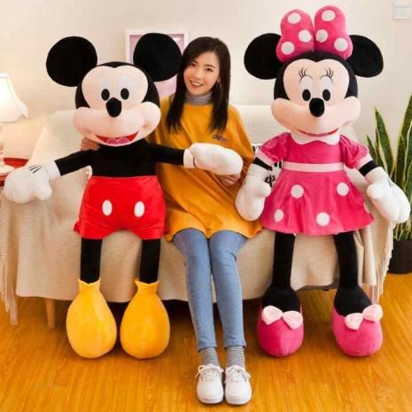 Jucarii plus Minnie sau Mickey Mouse Jumbo 130 cm
