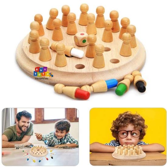 Joc-memorie-meci-de-sah-din-lemn-natur