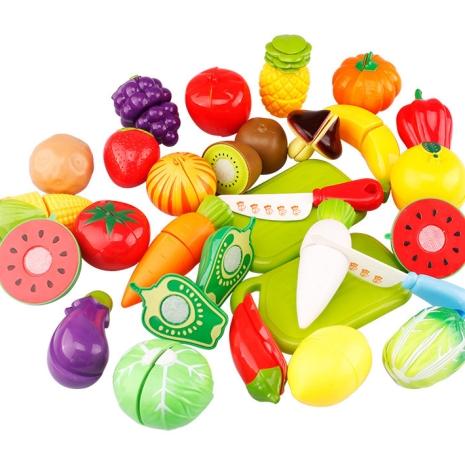 Joc set fructe si legume de feliat colorate 26pc