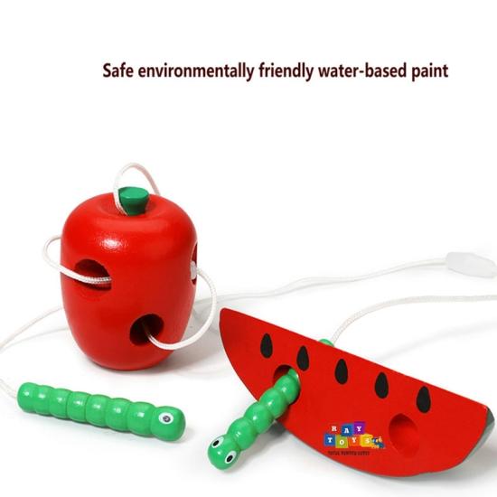 Joc-snuruit-din-lemn-pentru-copii-Set-3-fructe2