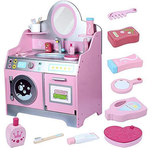 Maina-de-spalat-rufe-si-Masuta-de-toaleta-cu-chiuveta-pentru-fetite