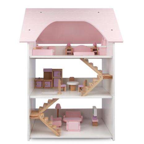 Mobilier-casuta-din-lemn-pentru-papusi-cu-3-etaje