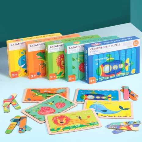 Puzzle din lemn 3D Montessori bagheta Creative