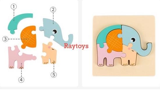 Puzzle-din-lemn-3D-Montessori-cu-animale-si-vehicule