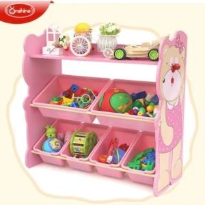 Rafturi-depozitare-jucarii-din-lemn-roz-model-urs-80-cm-inaltime