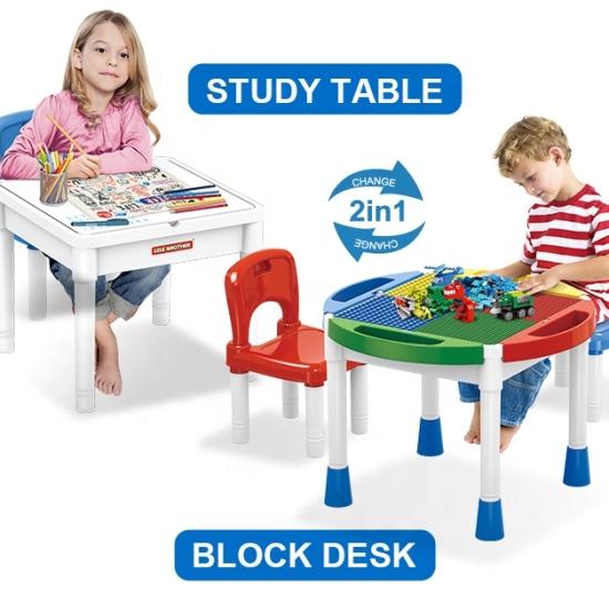 Masuta cuburi lego clasic si duplo cu 2 scaunele
