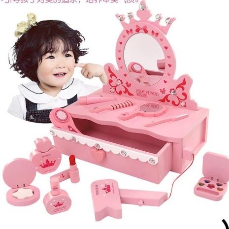 masuta-de-toaleta-din-lemn-cu-accesorii-princess-roz