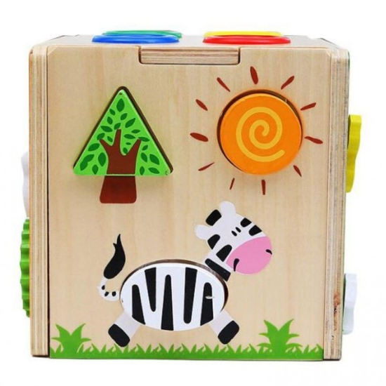 Cub-lemn-multifunctional-5-in-1-cu-ciocanel-si-bile