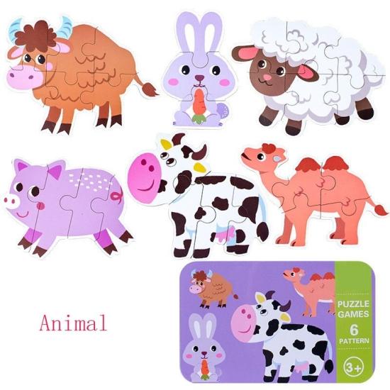 Set-6-puzzle-din-carton-Animale-sau-Vehicule-cutie