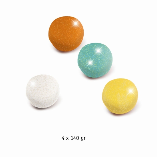 Plastilina stralucitoare set 4 culori Djeco