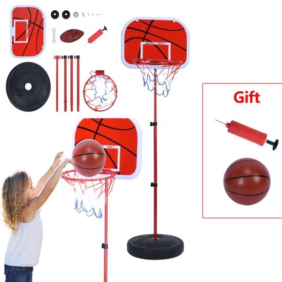 Cos baschet copii cu minge si stativ reglabil