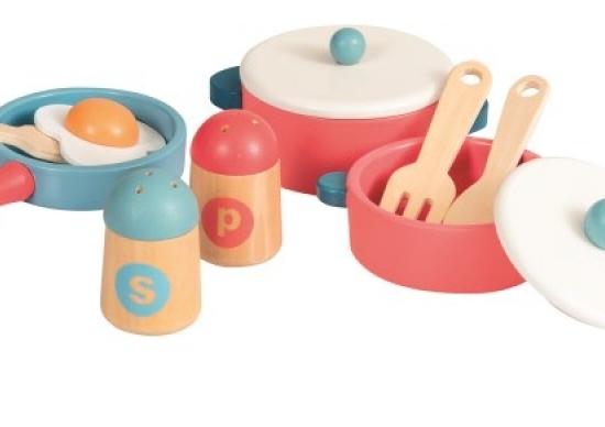 Set accesorii bucatarie din lemn Egmont