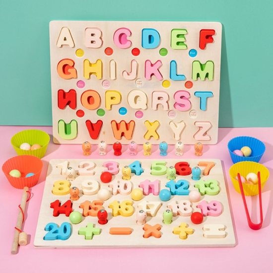 joc-puzzle-montessori-alfabet-sau-numere-fishing-bead-game
