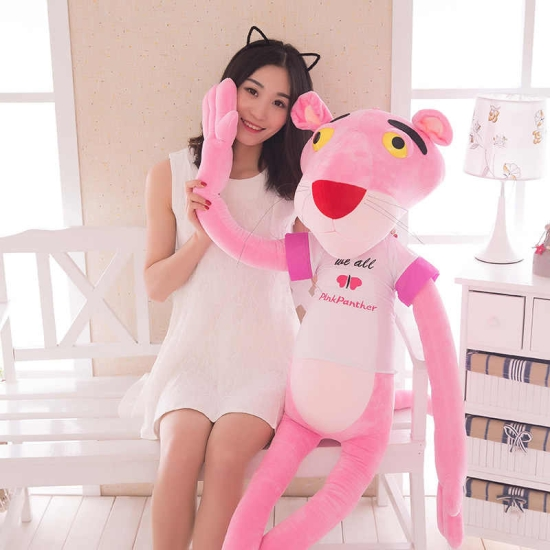 Pantera Roz jucarie plus pentru copii 60 - 130 cm