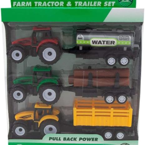 Set Tractoare cu remorca jucarii Vehicule agricole Farmer Truck