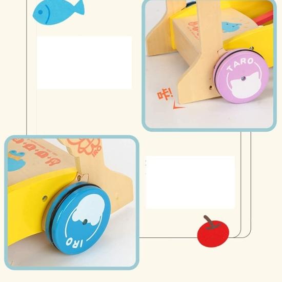 Antepremergator pentru copii cu animale 3D din lemn