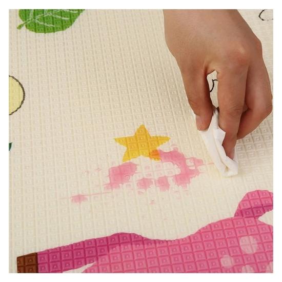 Covor educativ si joaca cu doua fete XPE Litere 180 x 200 cm