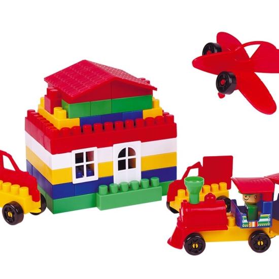 Cuburi constructii Lego 130 piese si accesorii Technok