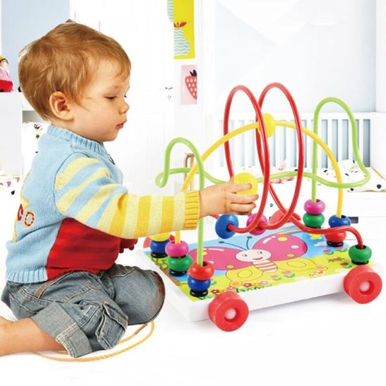 Labirint cu bile de tras Animale jucarie Montessori