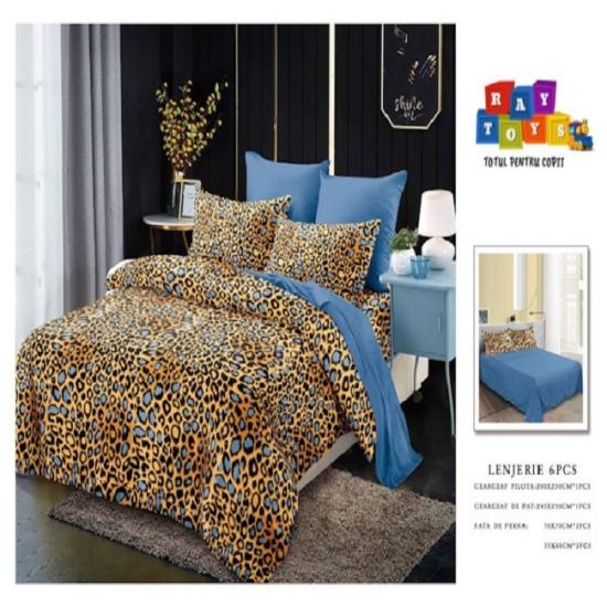 Lenjerie de pat Leopard Finet 6 piese
