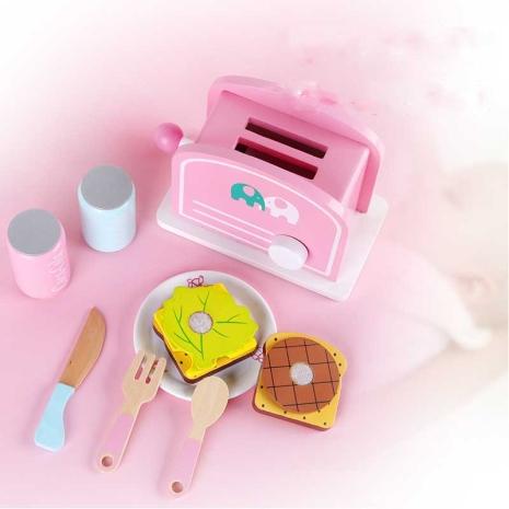 Prajitor de paine jucarie copii lemn Bread Toaster