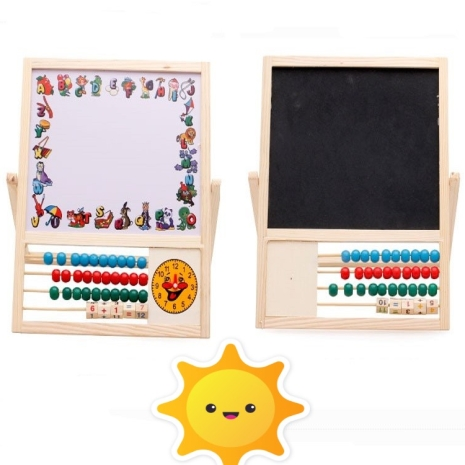Tabla magnetica educativa din lemn 4 in 1 Copacul