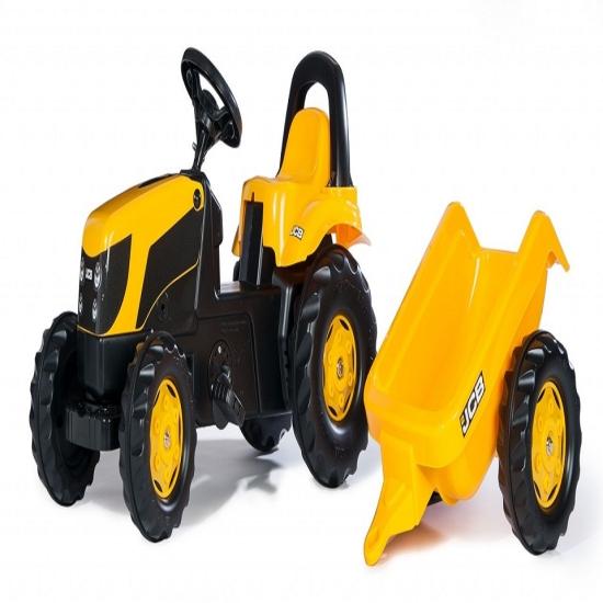 Tractor cu remorca Rolly Kid JCB