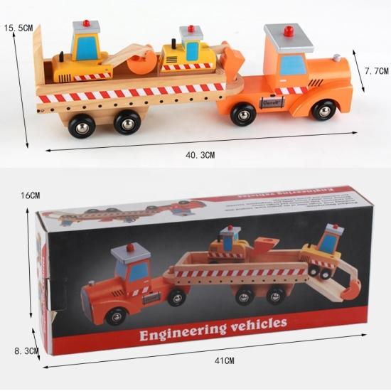 Vehicule Camion mare transportator de masini constructii lemn