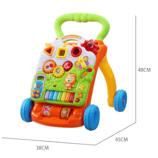 Antepremergator bebe cu pian muzical interactiv