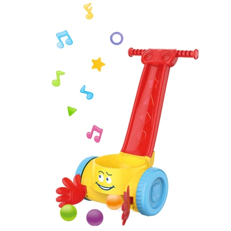 Jucarie de impins muzicala cu bile Baby Walker