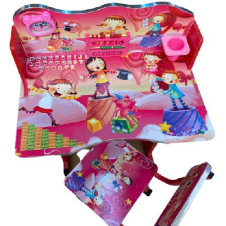 Birou-cu-scaun-pentru-copii-Roz-Copii-cu-accesorii.png