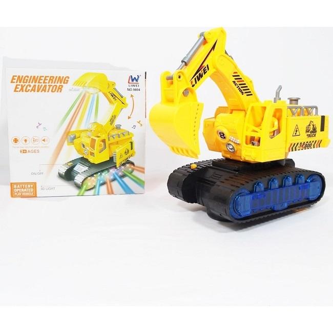 Excavator robot transformers cu lumini 2 in 1 supereroi