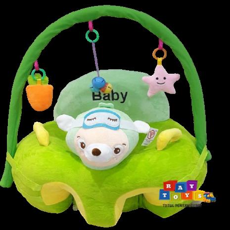 Fotoliu-plus-bebe-Catelusul-verde-cu-arcada-si-jucarii-