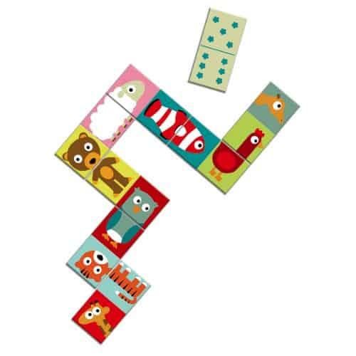 Joc Domino Puzzle cu animale colorate Djeco