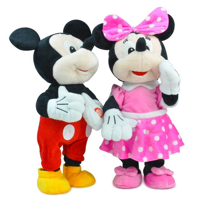 Jucarie interactiva Minnie sau Mickey Mouse danseaza si canta