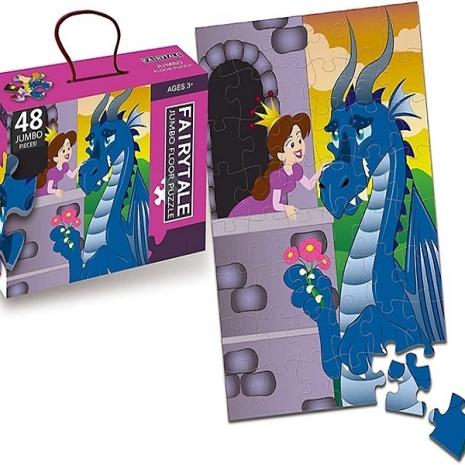 Puzzle-educational-mare-Printesa-si-Dragonul-48-piese