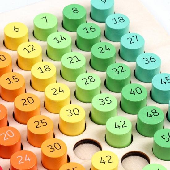 Tabla inmultirii operatii matematice cu cuburi colorate 81 pcs