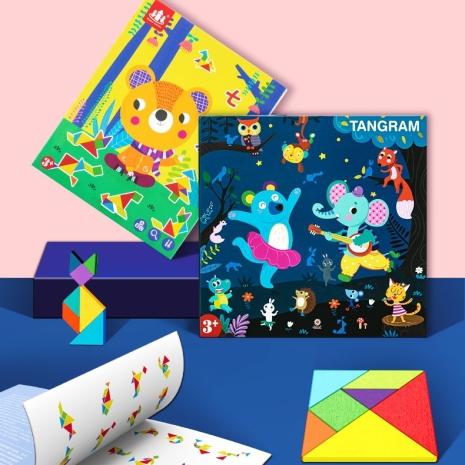 carte-magnetica-tangram-cu-piese-din-lemn-magnetice
