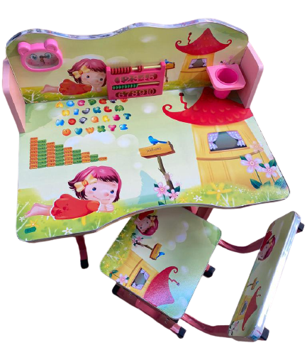 Birou pentru copii Fetita roz cu scaun