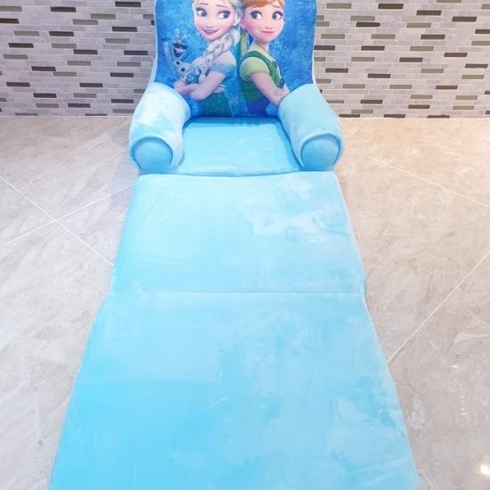Fotoliu extensibil plus Frozen Ana si Elsa triplu 115 cm