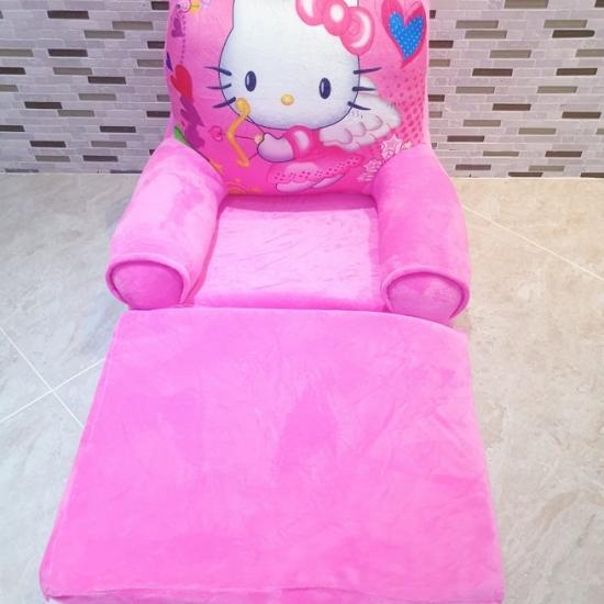 Fotoliu extensibil plus Pisicuta alba Hello Kitty 115 cm