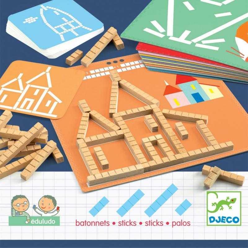Joc educativ logic matematica Sticks Eduludo Djeco