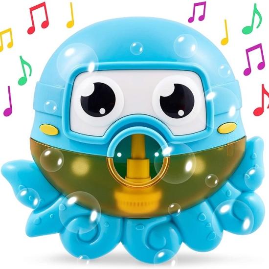 Jucarie de baie muzicala copii cu baloane Caracatita