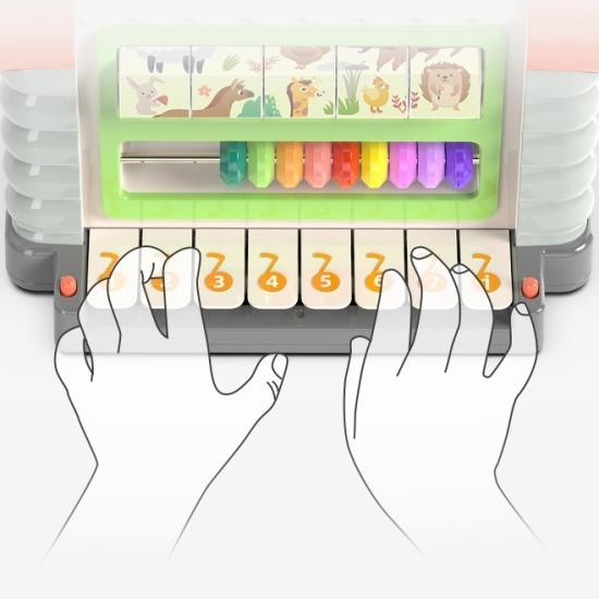 Jucarie interactiva cu activitati Casuta educativa si 3 cuburi