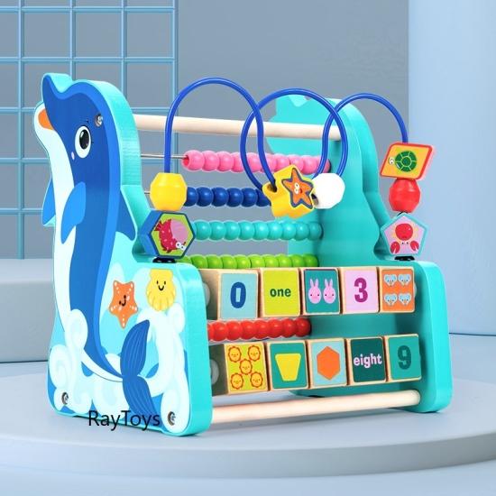 Jucarie motrica cu abac cifre forme geometrice Delfinul