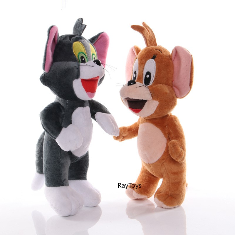 Jucarie plus Set Tom si Jerry Pisica si soricelul 30 cm