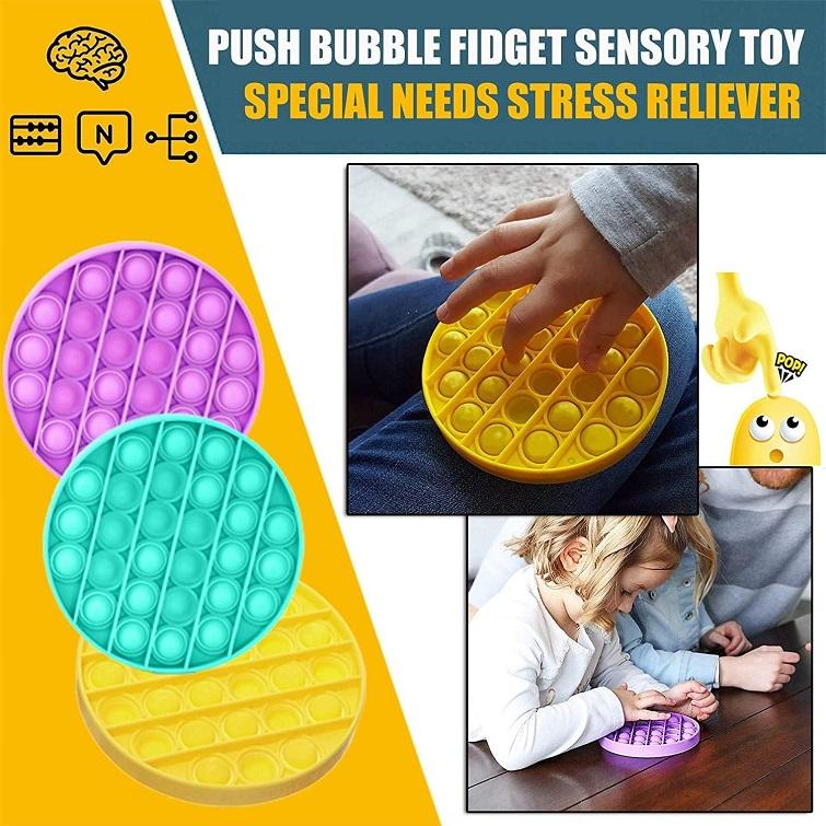Jucarie senzoriala antistres din silicon copii Push Pop Bubble