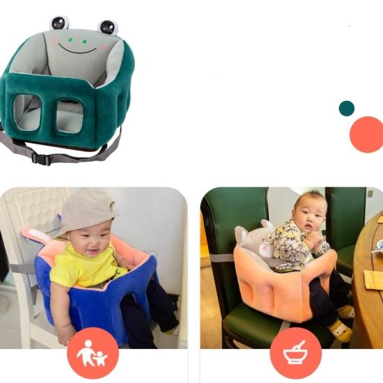 Scaun multifunctional din plus cu centura si desene bebelusi
